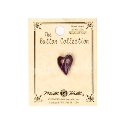 Пуговица Small Purple Folk Heart Mill Hill 86374