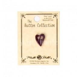 Пуговица Small Purple Folk Heart Mill Hill 86374