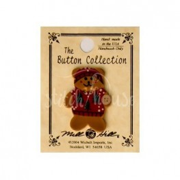 Ґудзик Teddy Bear In Red Sweater Mill Hill 86157