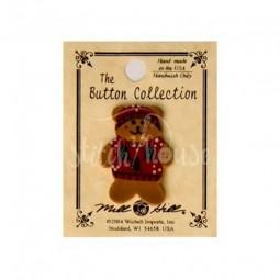 Пуговица Teddy Bear In Red Sweater Mill Hill 86157