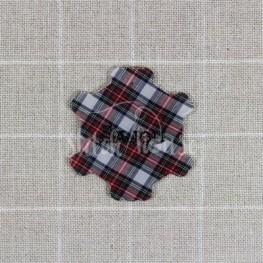 Бобинка для мулине Sajou шотландская ткань