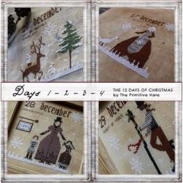 Схема 12 Days of Christmas 1 - 2 - 3 - 4 Days The Primitive Hare