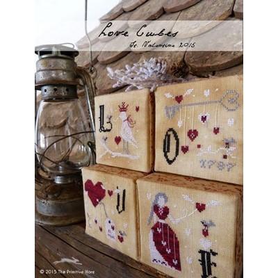 Схема Love Cubes: St. Valentine's Ornaments The Primitive Hare