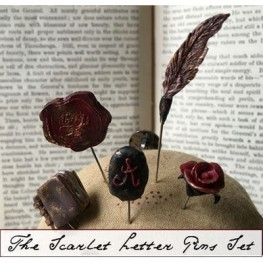 Булавки The Scarlet Letter Pins Set The Primitive Hare