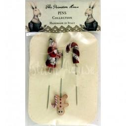 Булавки Gingerbread Pin Set The Primitive Hare