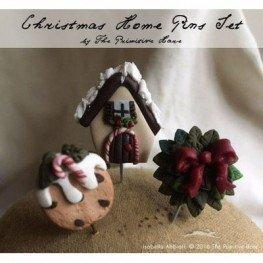 Булавки Christmas Home Pin Set The Primitive Hare