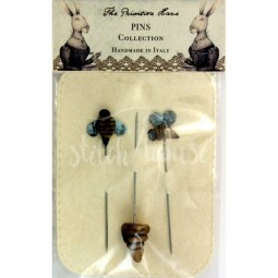 Булавки Bee Happy Pins Set The Primitive Hare