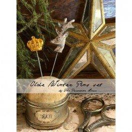 Булавки Olde Winter Pins Set The Primitive Hare