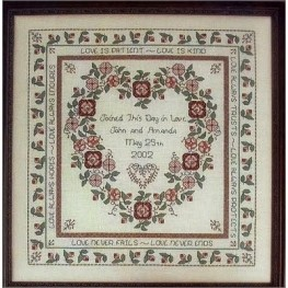Схема Baltimore Rose Wedding Sampler Rosewood Manor Q-1117