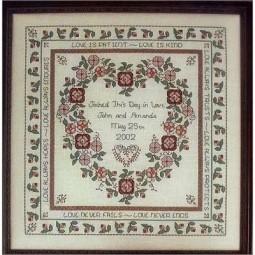 Схема Baltimore Rose Wedding Sampler Rosewood Manor Q-1117