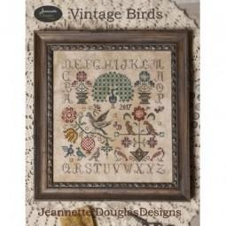 Схема Vintage Birds Jeannette Douglas