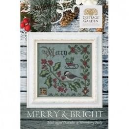 Схема Merry & Bright 2 Cottage Garden Samplings
