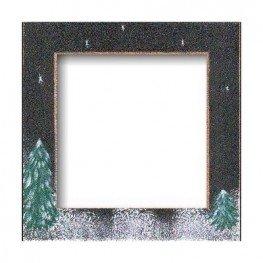 Рамка деревянная Matte Black Winter Night GBFRFA10 Mill Hill
