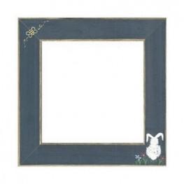 Рамка дерев'яна Matte Blue w/Bumble Bee & Bunny GBFRFA12 Mill Hill