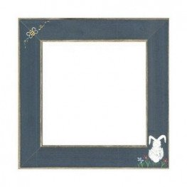 Рамка деревянная Matte Blue w/Bumble Bee & Bunny GBFRFA12 Mill Hill