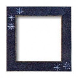 Рамка деревянная Matte Blue w/Snowflakes GBFRFA15 Mill Hill