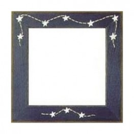 Рамка деревянная Matte Blue w/Stars & Stitches GBFRFA7 Mill Hill