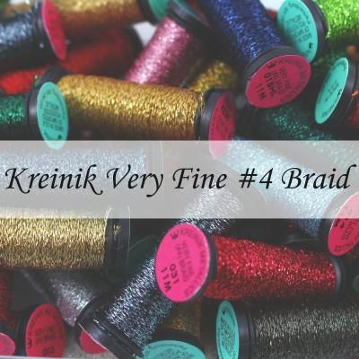 Металізовані нитки Kreinik Very Fine 4 Braid