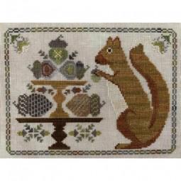 Схема Autumn Squirrel The Blue Flower