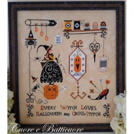 Схема Halloween And Cross Stitch Cuore e Batticuore
