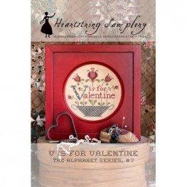 Схема V is for Valentine Heartstring Samplery