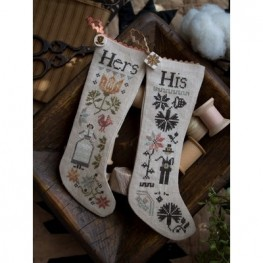 Схема His & Hers Thanksgiving Stockings Plum Street Samplers