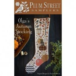Схема Olga's Autumn Stocking Plum Street Samplers