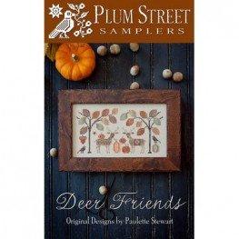 Схема Deer Friends Plum Street Samplers