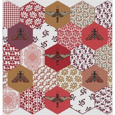 Схема The Quilted Bees Long Dog Samplers