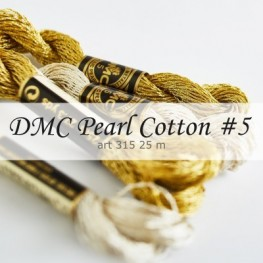 Нити перле DMC Pearl Cotton металлик #5 art 315