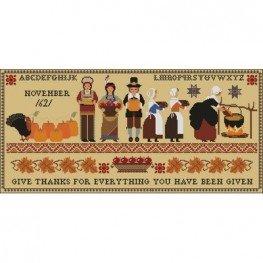 Схема Thanksgiving 1621 Sampler Twin Peak Primitives