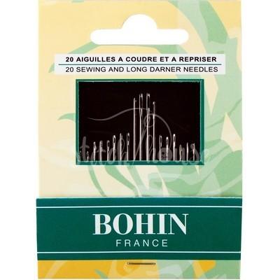 Набор игл для шитья (20 шт) Bohin 05599