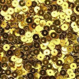 Пайетки Gold (золото) 4 мм