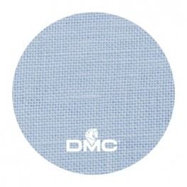 Ткань DMC 28 ct льняная ткань DM 432-312 (голубой)