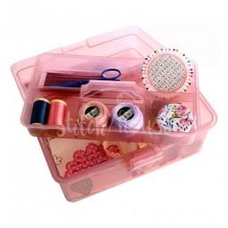 Коробка-органайзер M розовый Bohin 98786