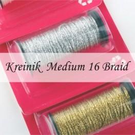 Металлизированные нити Kreinik Medium #16 Braid