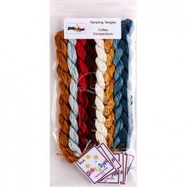 Комплект нитей Dinky Dyes Coffee Compendium Tempting Tangles Designs
