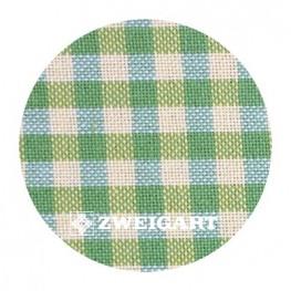 Murano 32 ct Zweigart Checkered Green/Yellow (в желто-зеленую клетку) 7663/6282