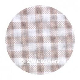 Murano 32 ct Zweigart Checkered Beige/Antique White (в бежево-молочную клетку) 7663/1012