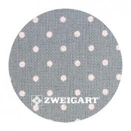 Murano 32 ct Zweigart Antique Blue/white dots (античный синий в белый горошек) 3984/5269