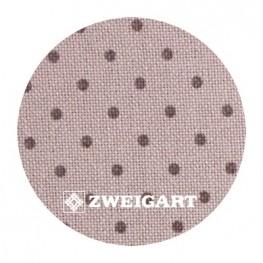 Murano 32 ct Zweigart Beige/khaki dots (бежевый в горошек хаки) 3984/7159