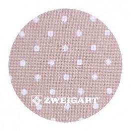 Murano 32 ct Zweigart Light Taupe/white dots (бежевый в белый горошек) 3984/7309