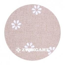 Murano 32 ct Zweigart Beige/white Flowers (бежевый в белый цветочек) 3984/7399