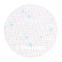 Murano 32 ct Zweigart Antique White/Mint Splash (молочный) 3984/1299