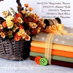 Murano 32 ct Zweigart Amber Yellow/Autumn Gold (янтарно-желтый) 3984/2128