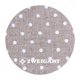 Belfast 32 ct Zweigart Raw linen/white dots в белый горошек 3609/5379