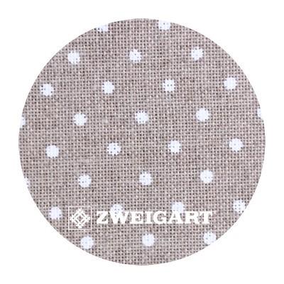 Belfast 32 ct Zweigart Raw linen/white dots (цвет сырого льна в белый горошек) 3609/5379