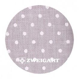 Belfast 32 ct Zweigart Gray linen/white dots в білий горошок 3609/7349