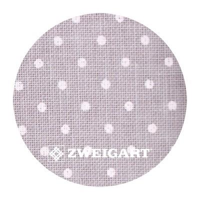 Belfast 32 ct Zweigart Gray linen/white dots (серый в белый горошек) 3609/7349