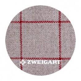 Belfast Carre Zweigart 32 ct (натуральный в красную клетку) 7666/3809